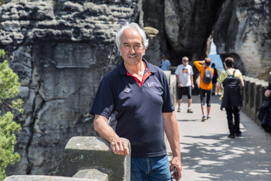 Geschäftsführer Thomas Löwinger (66) freut sich, dass er zur Erhaltung der Basteibrücke beitragen darf.