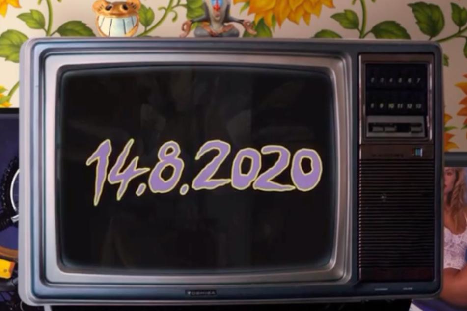 Mit dem Datum 14. August 2020 bringt Cro die Fans in seinem Instagram-Clip um den Verstand.