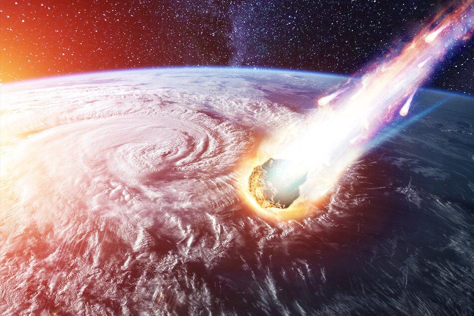 Ein gewaltiger Asteroid soll am Wochenende an der Erde vorbeifliegen (Symbolbild).