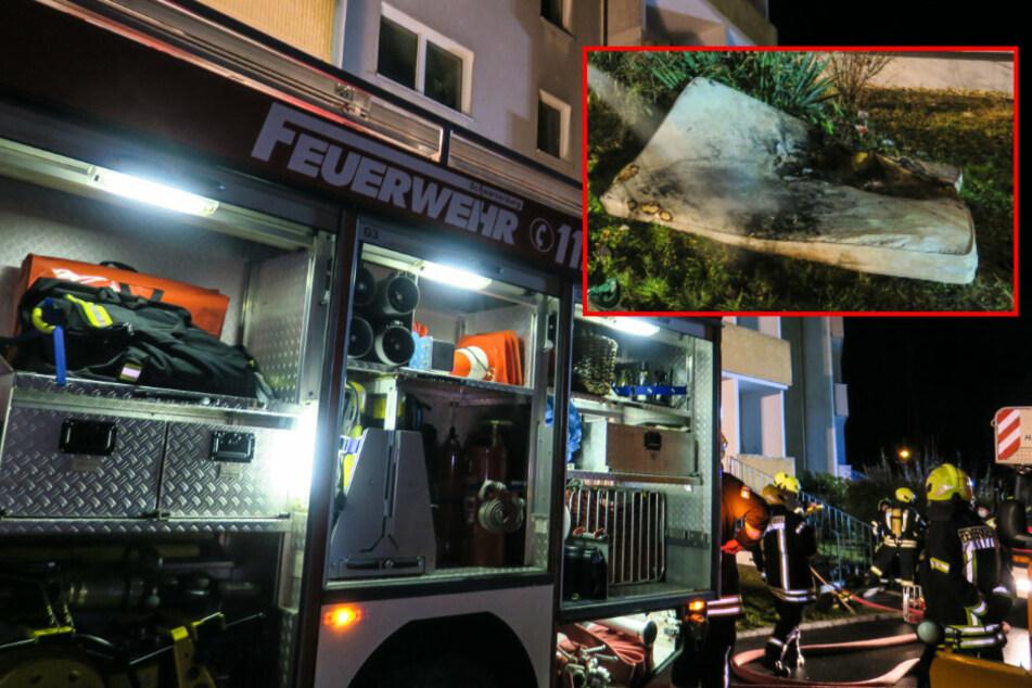 Brand im Erzgebirge: Matratze in Flammen, ein Verletzter