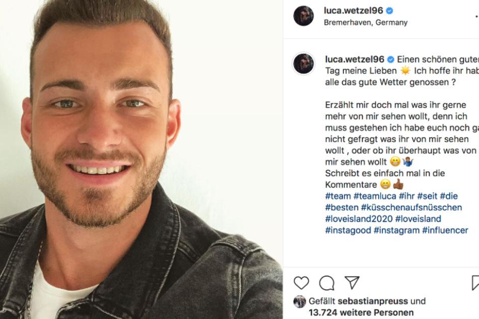 Normalerweise zeigt sich Luca (24) gut gelaunt auf Instagram.