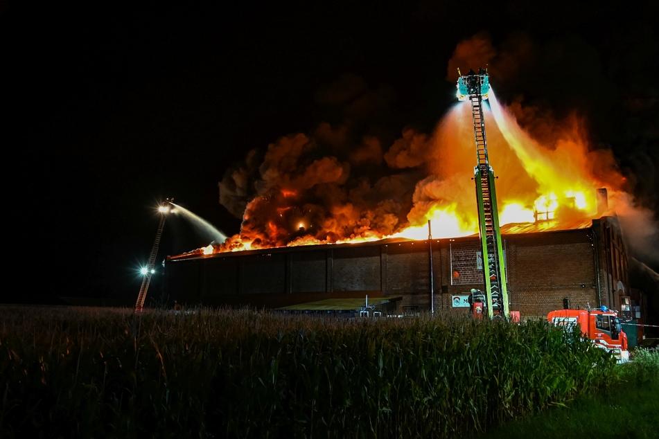 Die historische Scheune auf Burg in Fehmarn brannte lichterloh.