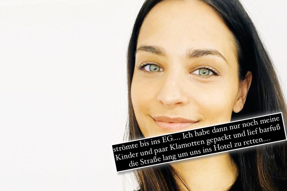 """Amira Pocher: """"Habe nur noch meine Kinder geschnappt"""": So erlebte Amira Pocher die Flutkatastrophe"""