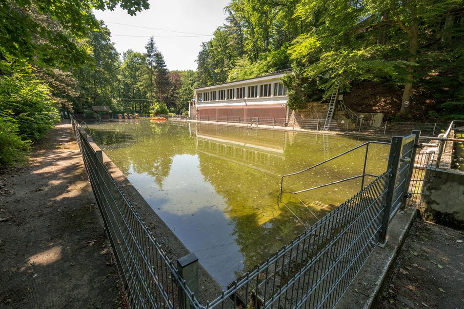 Das alte Bühlauer Bad steht unter Denkmalschutz, der Kern der Anlage ist noch erhalten.