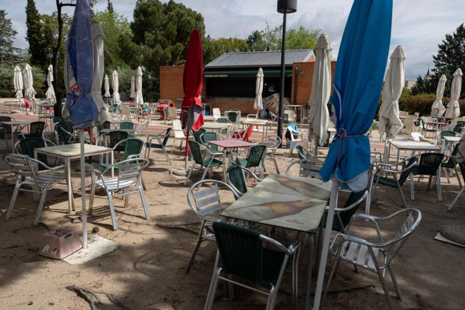 Die Restaurants stehen bis auf Weiteres leer.