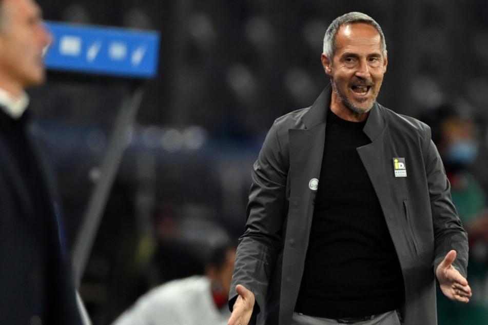 Trainer Adi Hütter will gegen den 1.FC Köln drei Punkte.