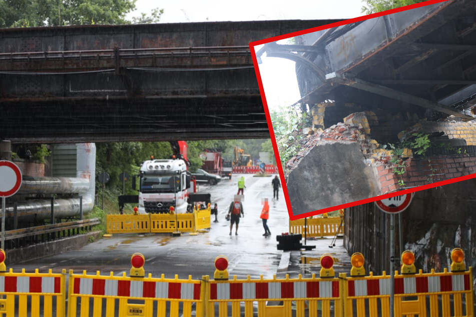 Vollsperrung im Leipziger Osten! Brücke nach Lkw-Crash aus Lagern gerissen