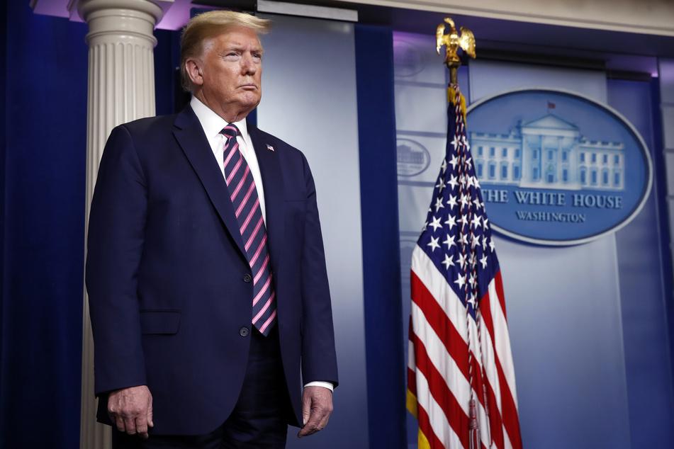 Donald Trump, Präsident der USA, während einer Pressekonferenz im Weißen Haus anlässlich des Coronavirus.