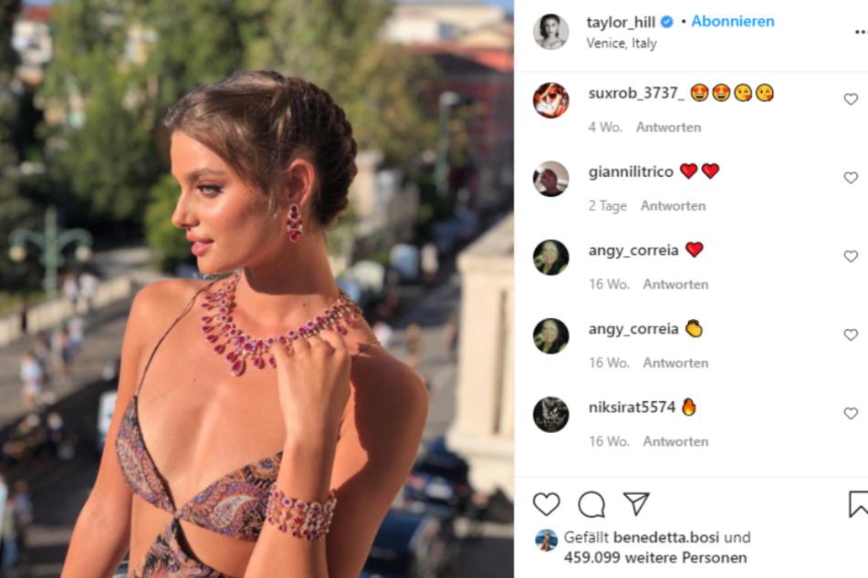 Elegant und schön: Super-Model Taylor Hill.