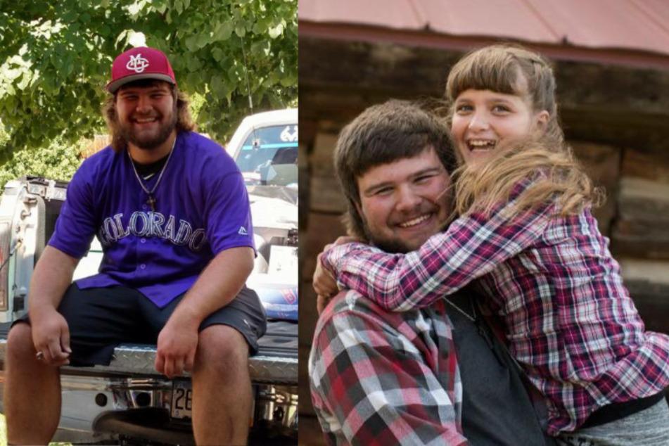 Cody Lyster (21) zusammen mit seiner 15-jährigen Schwester Sierra.