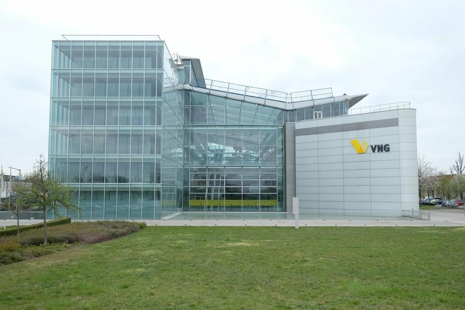 Der Firmensitz der Verbundnetz Gas AG (VNG) in Leipzig bietet durch Corona vermehrt mobiles Arbeiten an.