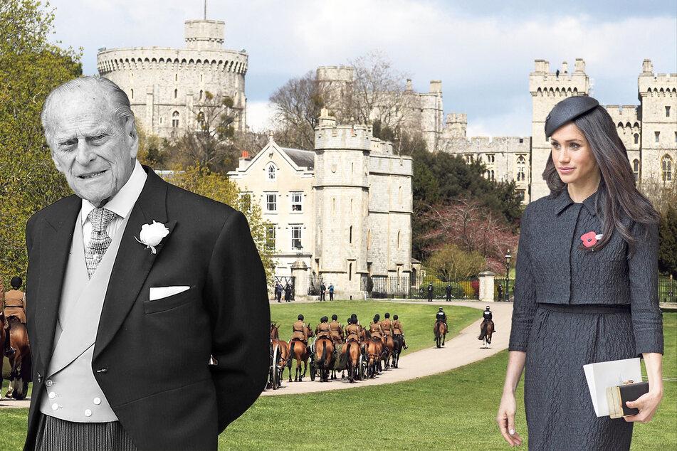 Der Ablauf der Trauerfeier für Prinz Philip (†99) wurde auf Schloss Windsor geprobt. ´Herzogin Meghan (39) verfolgt die Zeremonie im Familien-Live-Stream.