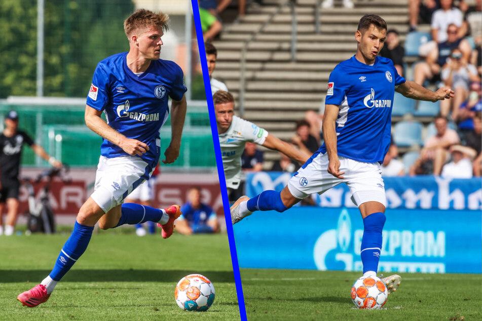 Die Neuzugänge Marius Bülter (28, l.) und Marvin Pieringer (21, r.) sollen das Angriffsspiel des FC Schalke 04 beleben.