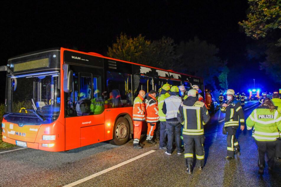Tödlicher Busunfall! Auto schleudert in Scheibe: Teenager stirbt, mehrere Verletzte