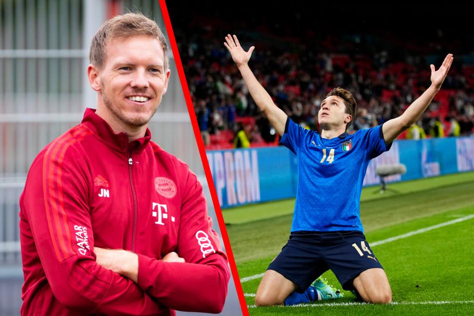 Bayerns neuer Coach Julian Nagelsmann (33, l.) hält viel von Italiens EM-Star Federico Chiesa (23).