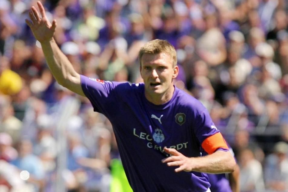 Natürlich gelang ihm zum Abschied noch ein Treffer beim 2:2 gegen die Löwen: Andrzej Juskowiak.