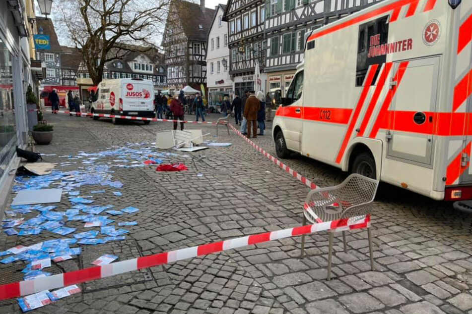 Schorndorf am vergangenen Samstag: Vom AfD-Infostand blieb nichts übrig.