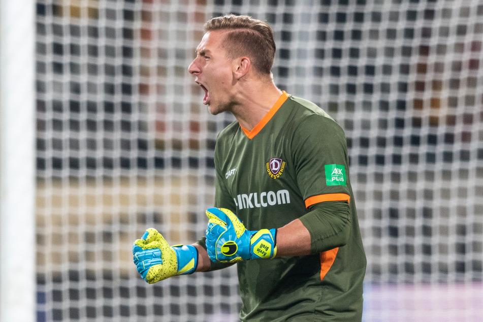 Torwart Kevin Broll (24) hat bei Dynamo Dresden noch einen Vertrag bis 2022.