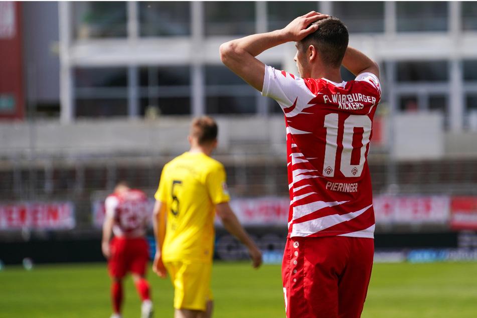 Marvin Pieringer (21, r.) wurde in der Winterpause vom SC Freiburg II ausgeliehen und erzielte vier Tore in 18 Zweitliga-Spielen, konnte aber auch nicht für die Würzburger Wende sorgen.