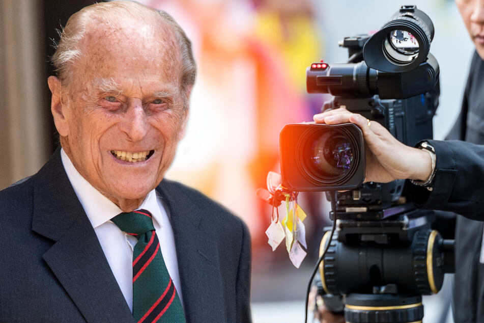 The BBC chose to cover Prince Philip's death on most of its channels to the complete exclusion of all other programming (collage, stock image).
