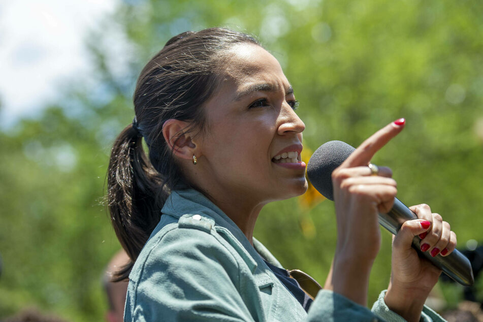 New York Rep. Alexandria Ocasio-Cortez called out Manchin on Twitter for allegedly holding weekly strategy meetings with fossil fuel companies and their lobbyists.