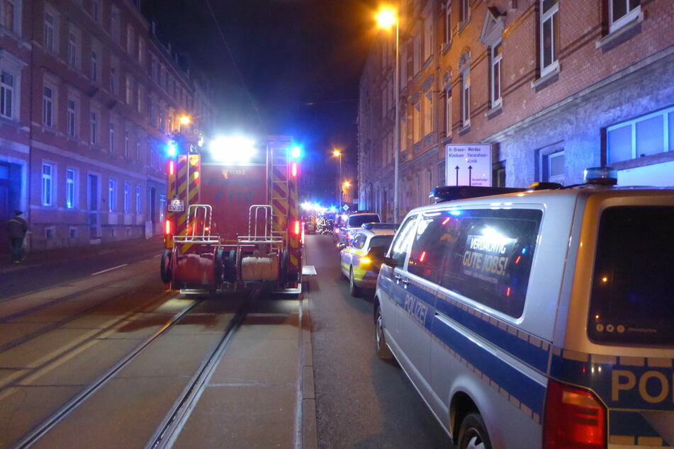 Polizei und Feuerwehr waren am Mittwochabend in Zwickau in der Werdauer Straße im Einsatz.