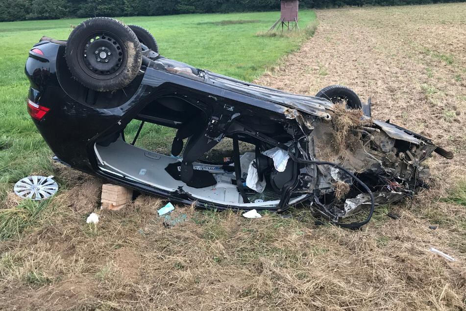 Per Hubschrauber wurde ein Autofahrer (23) ins Krankenhaus gebracht.