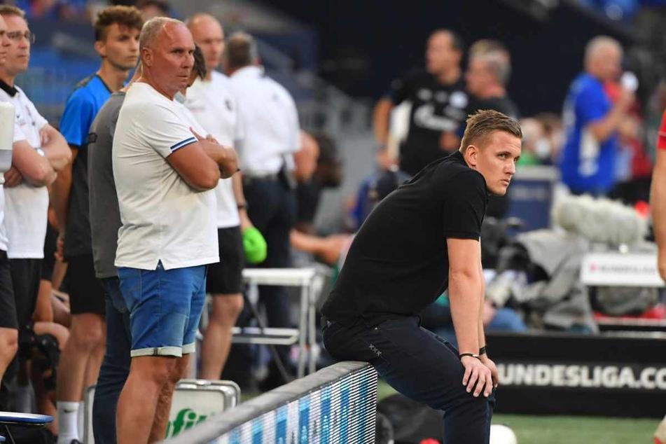Präsident Helge Leonhardt (62) steht hinter seinem Trainer Aleksey Shpilevski (33, r.) - ohne ihm in den Rücken zu fallen.