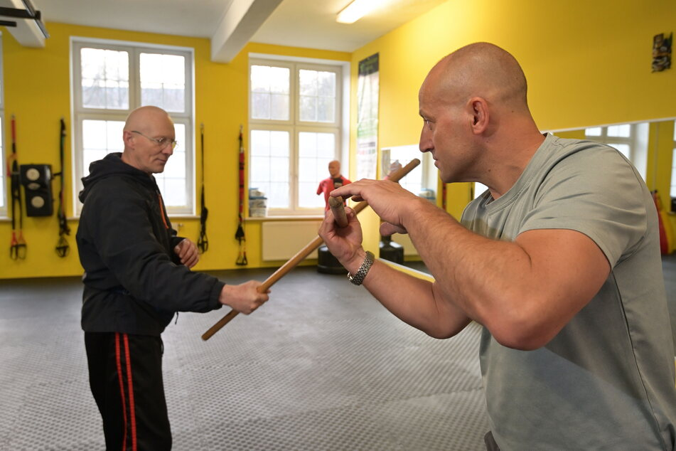 Kampf gegen Corona-Zwangsschließung: Die Kampfsportler Lutz Vogel (l.) und Jens Thomalla wollen wieder trainieren.