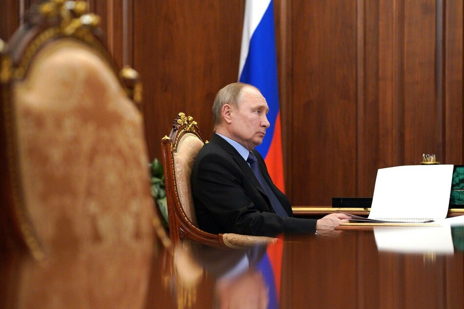 Russian President Vladimir Putin during a meeting with Agriculture Minister Dmitry Patrushev in the Kremlin.