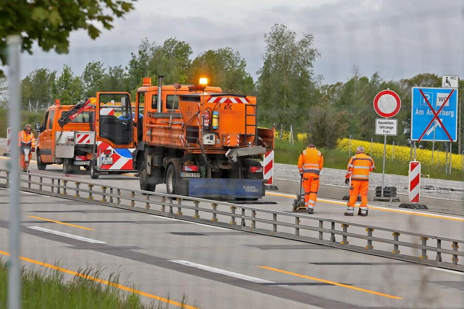 Die A4 bei Glauchau ist am Donnerstagabend voll gesperrt. Grund dafür sind kurzfristige Instandsetzungsarbeiten.