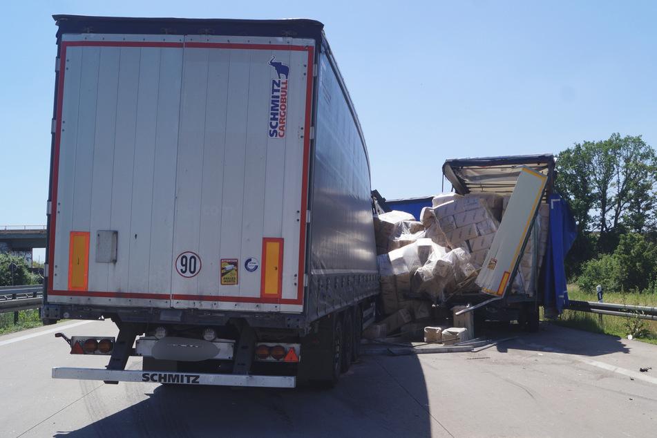 Die A9 bei Wolfen in Fahrtrichtung München war am Montagnachmittag während den Bergungsarbeiten mehrere Stunden gesperrt.
