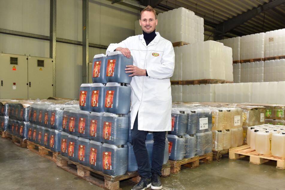 Maximilian Deharde (39), Geschäftsführer der Lausitzer Früchteverarbeitung.