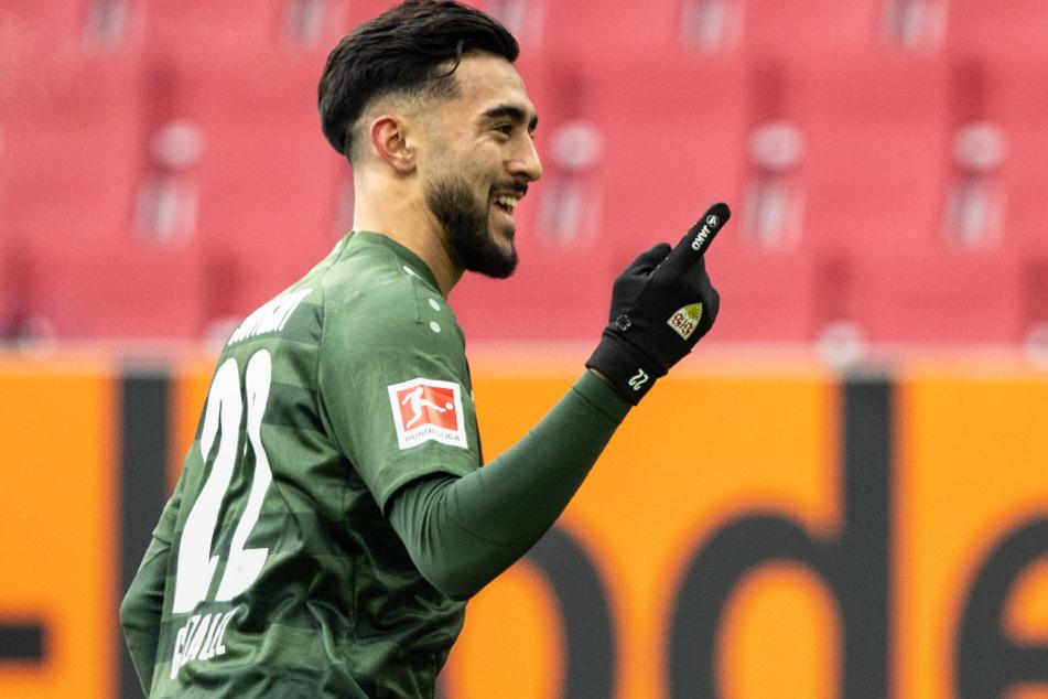 Nicolas Gonzalez (22) jubelt nach seinem Treffer gegen den FC Augsburg.