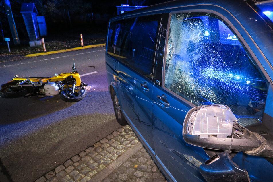 Unfall im Erzgebirge: Biker nach Zusammenstoß im Krankenhaus