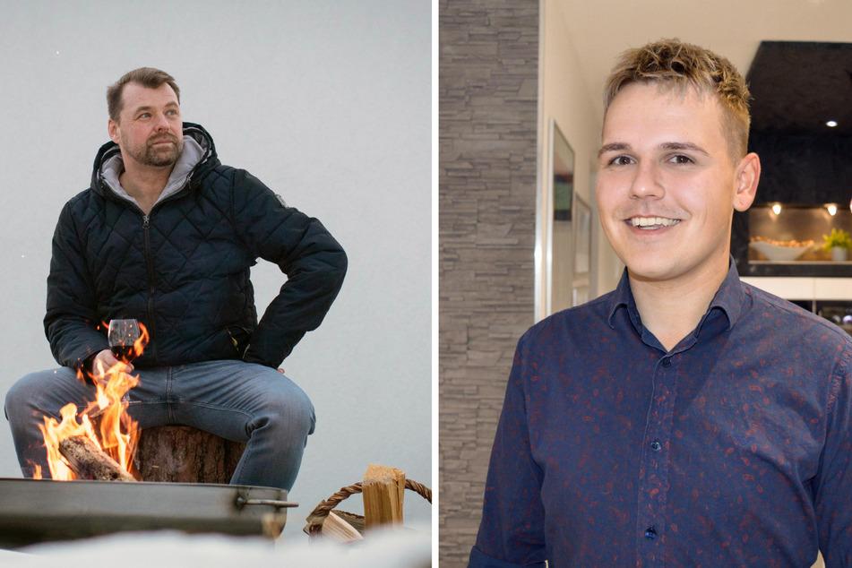 Christian (47, l.) aus Niederbayern und der homosexuelle Nico (24) aus Westfalen.
