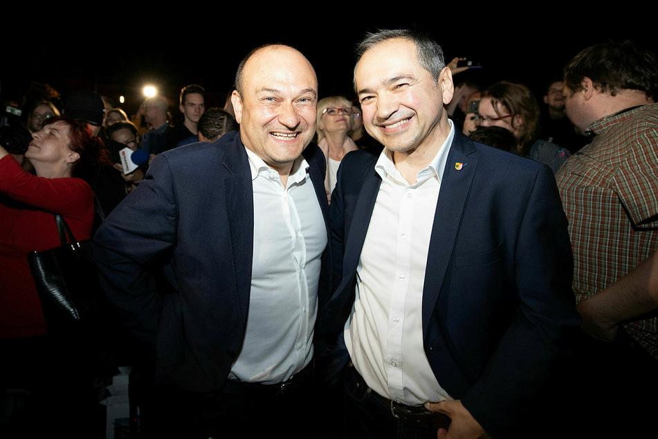 Octavian Ursu (CDU, r.) und Rafal Gronicz.
