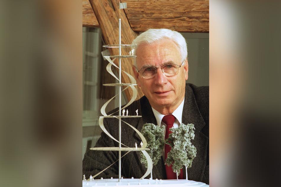 Dieses Foto von Jörg Schlaich stammt aus dem Mai 1998: Nun ist der berühmte Ingenieur verstorben. (Archivbild)