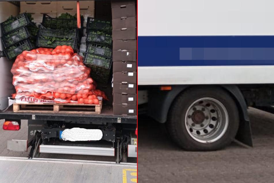 Viel zu schwer: Polizei stoppt Gemüse-Laster auf der A1