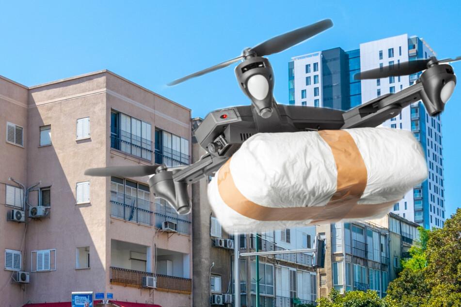 Drohne wirft etliche Marihuana-Päckchen über Großstadt ab