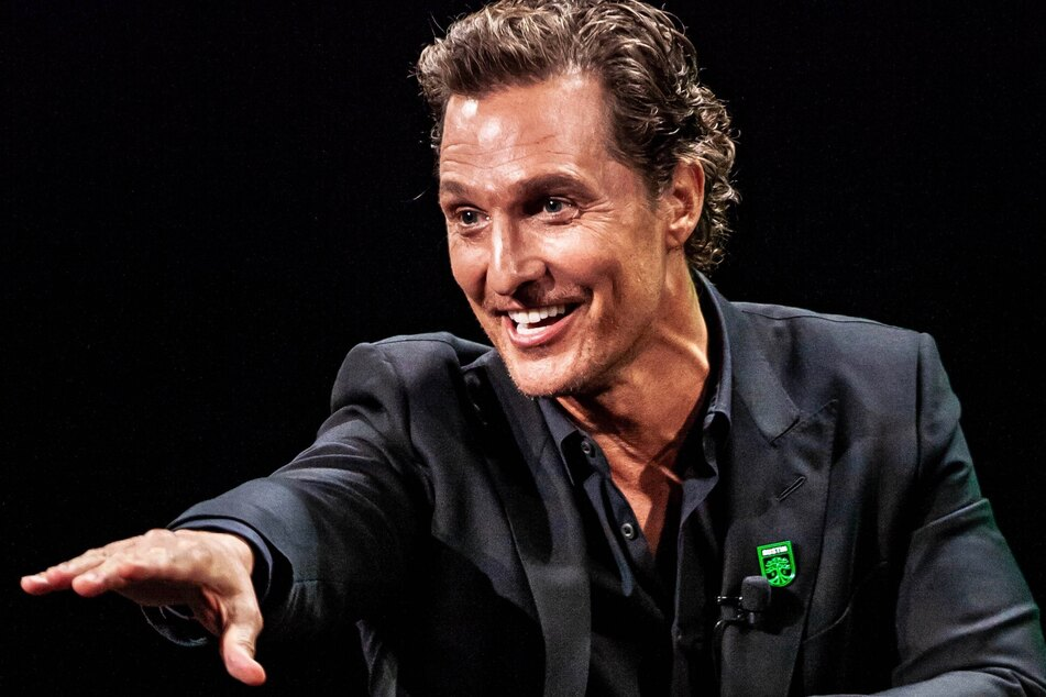 Matthew McConaughey (50) at a press conference.