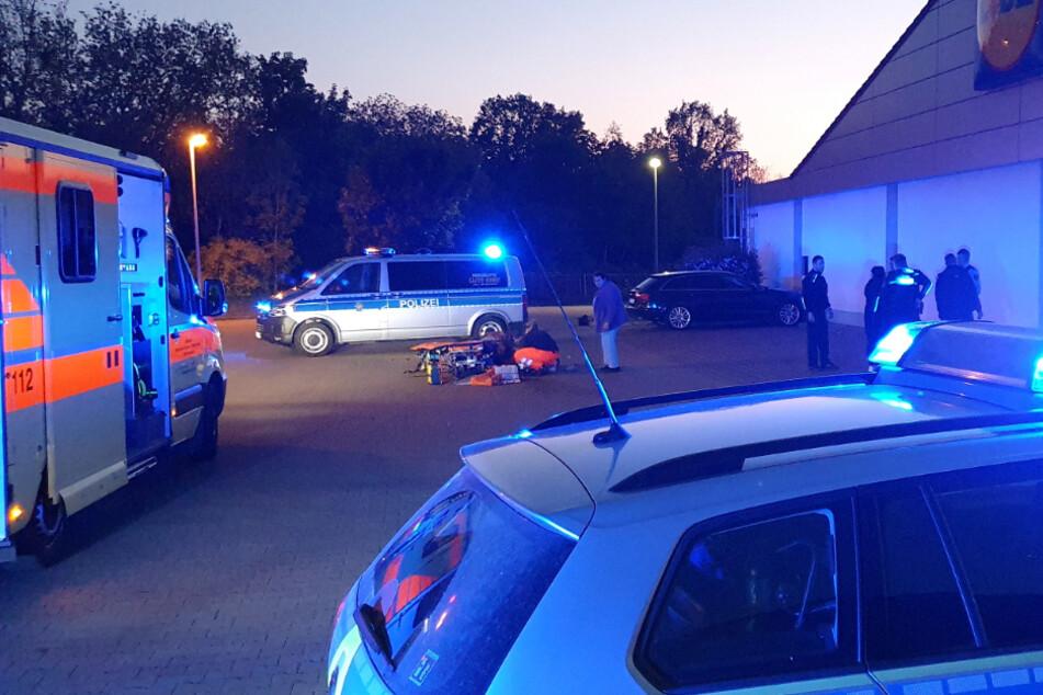 Rettungswagen und Polizei am Freitag vor Ort.