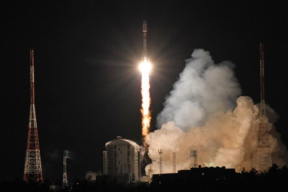 A Russian Soyuz rocket.