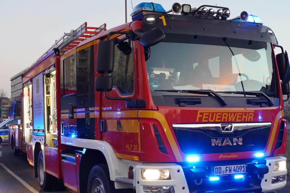 Die Dresdner Feuerwehr hatte aufgrund der starken Regenfälle am Wochenende einiges zu tun.