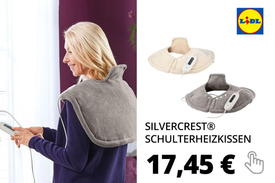 SILVERCREST® Schulterheizkissen, 100 Watt, 6 Temperaturstufen, mit Schnellheizung