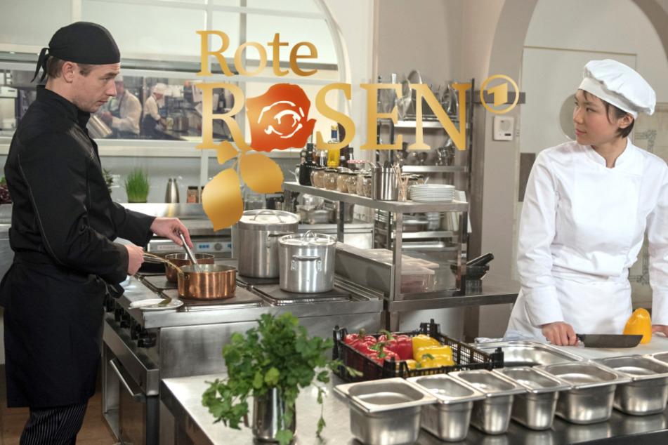 """""""Rote Rosen"""": Ellen muss lernen, irgendwie mit ihrem Ex-Chef Oliver klarzukommen."""