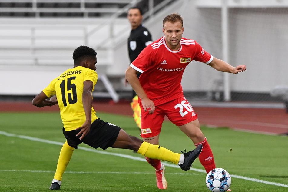 Seine einzigen beiden Startelf-Einsätze der Saison hatte Tymoteusz Puchacz (22, r.) in den Play-offs zur Conference League gegen Kuopion PS.