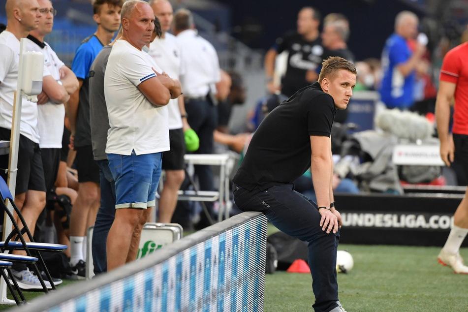 FCE-Boss Helge Leonhardt (62) stand lange felsenfest hinter Aleksey Shpilevski (33, r.) - zu lange?