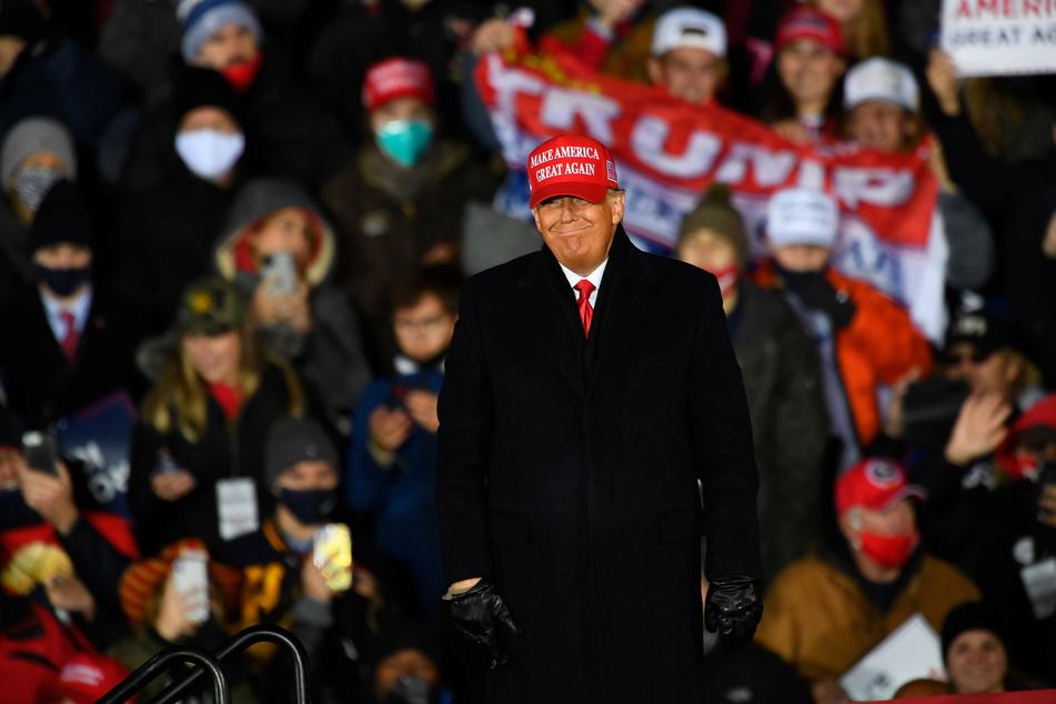 President Donald Trump at his final campaign rally, in Grand Rapids, Michigan.