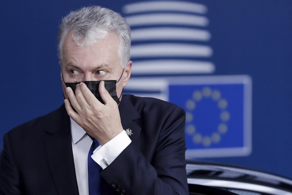 Litauens Präsident Gitanas Nauseda wegen Corona zur Vorsicht aufgerufen.